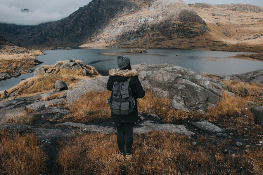 dziewczyna w górach